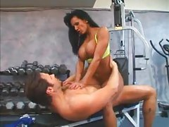 Dirty trainer in gym fucked in her cunt tubes