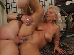 Old German lady fucked by a big cock tubes