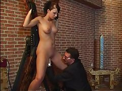 Dirty girl used hard in the dungeon tubes