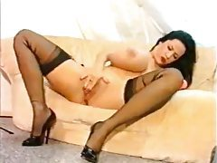Giant tits model Lili Xene has toy sex tubes