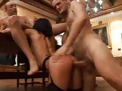 Well dressed men have fun with slut tubes