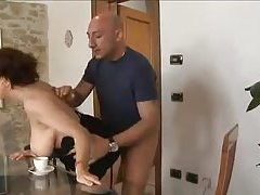 Curvy Italian in boots and stockings fucked tubes