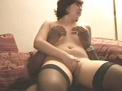 White amateur wife takes black creampie tube
