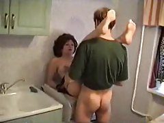 Sexy mom fucked in her kitchen tubes