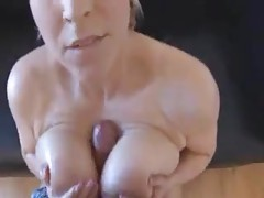 Curvy girl with giant natural tits gets him off tubes
