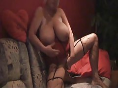 Enormous boobs on the amateur toy slut tube