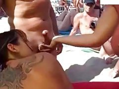 Sex on a public beach in Spain tubes