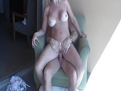 Big tits amateur suck and fuck on balcony tubes