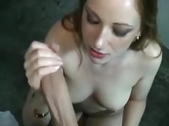 Girl with creamy pussy paid to take cock tubes