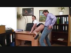 Young secretary fucked by her boss tube