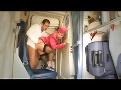 Hot stewardess anal sex on a plane tubes