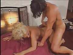 Bimbo blonde with pierced clit nailed tubes