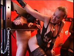 Mistress uses and abuses a guy for her pleasure tube