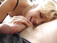 Blonde with a big mouth deepthroats cock tubes