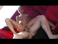 Pierced nips on shaved pussy slut that loves cock tubes