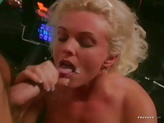 Orgy in the club with three hotties tubes