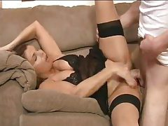 Milf in seamed stockings loves good sex tubes