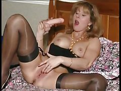 Excited British milf in her solo scene tubes