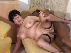 Mature in fishnets fucked by black stud tubes