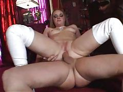 Girl in white latex boots anal sex tubes