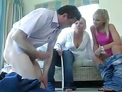 Two clothed British ladies abuse and humiliate him tubes