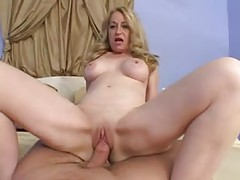Blonde mature takes his cock in POV tubes