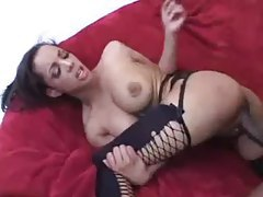 Big black meat in her tight black pussy tubes