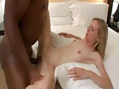 Super skinny girl takes the super big black cock tubes