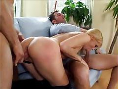 Creampie for her from two cocks tubes