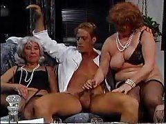 He bangs three fat old ladies tubes