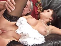 British maid nailed in the bar tubes