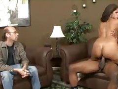 Hubby watches the wife go black tubes