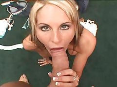 Flexible young lady gives a POV blowjob tubes