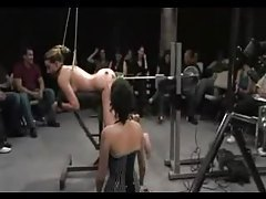Delilah Strong long BDSM scene with an audience tube