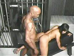 Black guy nails this slut in jail tubes