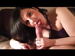Amateur gives a slow and sexy BJ tubes