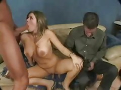 Horny blonde and a couple of big cock dudes tubes