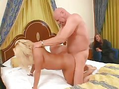 Husband watches his trophy wife fuck another man tubes