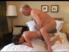 Deepthroat threesome in bedroom with gagging tubes