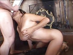 Panties go and he face fucks her tubes