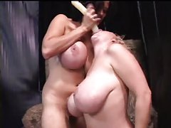 Colossal boobs on lezzy lovers tubes