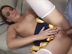 Cheerleader with sexy tits fucked tubes