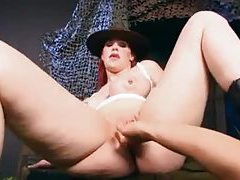 POV pumping of a military redhead tubes