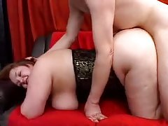A hot corset on a fat slut that wants cock tubes