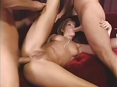 Three guys fuck the hot Tyla Wynn tubes