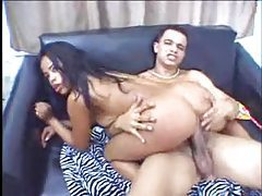 His thick cock fits inside her Latina ass tubes