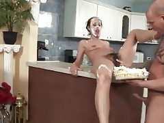 Hairy girl has cake on her face when she gets fucked tubes