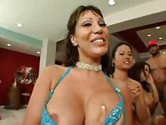 The start of an exciting gangbang scene tubes