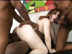 Two black guys in curvy girl and facials tubes