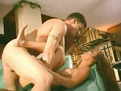 Drilling a wet Asian pussy missionary style tubes